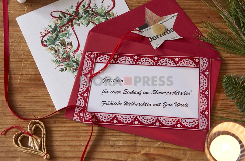 Fröhliche Weihnachten mit Zero Waste - Einkaufsgutschein für einen 'Unverpacktladen'