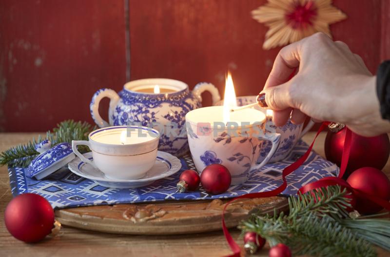 Fröhliche Weihnachten mit Zero Waste - Kerzenreste schmelzen und in hübsche Vintage-Tassen füllen, Step vorhanden
